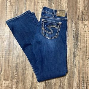 "Silver Jeans Suki 17"""